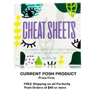 Perfectly Posh Cheat Sheets Under Eye Sheet Masks
